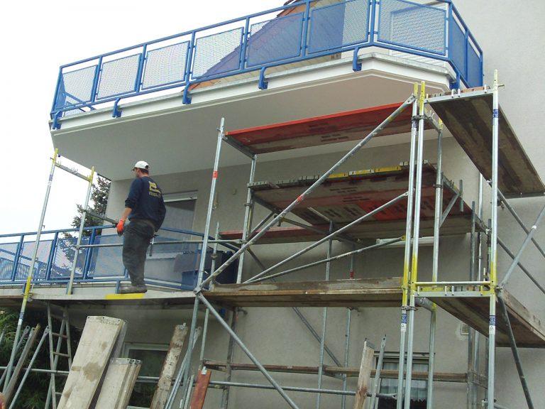 Die Betonsanierungsarbeiten wurden von der Firma A.B. Bau Mannheim durchgeführt